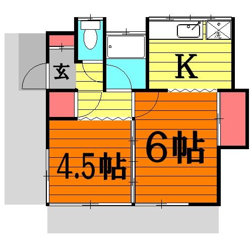 清水アパートA 101号室の間取り