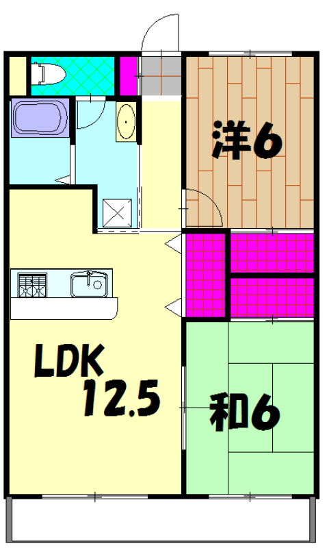 第2ロイヤル島田 305号室の間取り