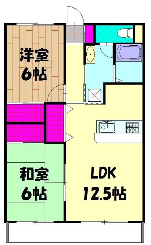 第2ロイヤル島田 303号室の間取り