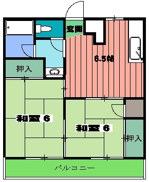 平野マンション 203号室の間取り