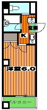 エフレジデンス壱拾八番館 601号室の間取り