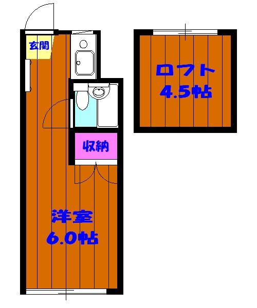 ピア6 608号室の間取り