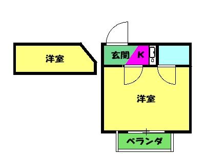ドールハウス B201号室の間取り