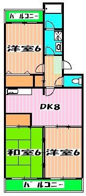 ガーデンタウン本中山 301号室の間取り