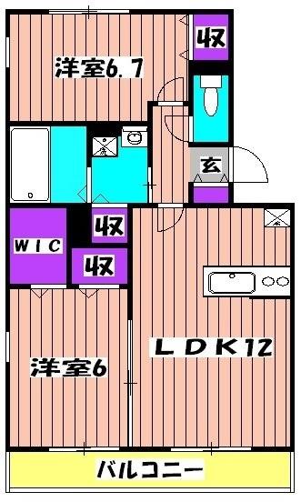 スカイタウン塚田 305号室の間取り