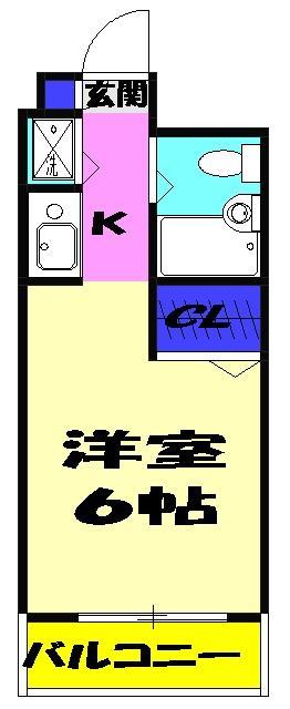 ジョイフル津田沼Ⅲ 308号室の間取り