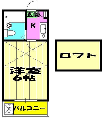 ジュネパレス田久保 201号室の間取り