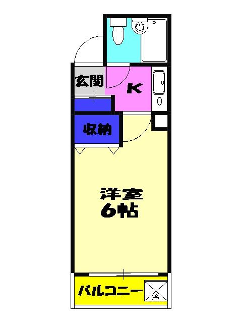 ジュネパレス津田沼第5 402号室の間取り
