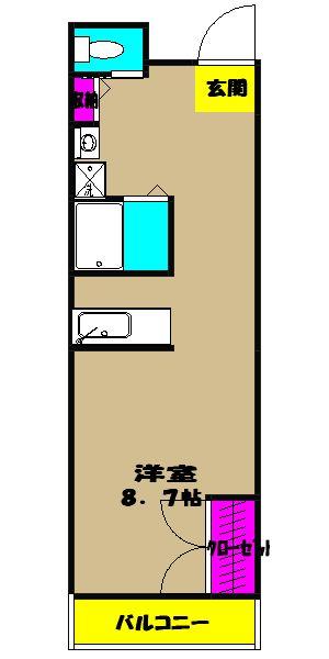 サザンヒルズ 3-B号室の間取り