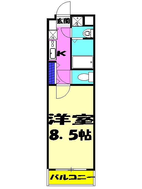 KANENARI和光前原 101号室の間取り