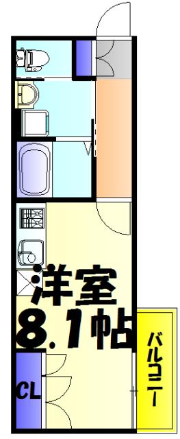 サンライズ津田沼Ⅲ 201号室の間取り