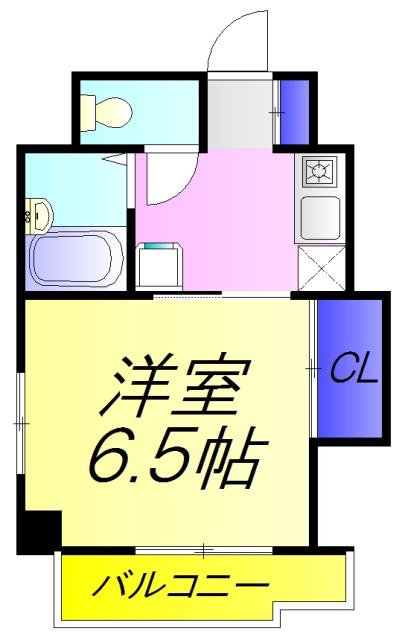 アイエスエイ新検見川ビル 404号室の間取り