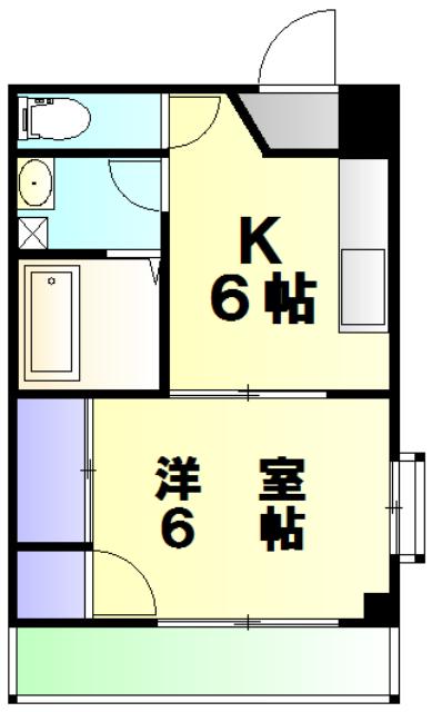 斉藤ビル 203号室の間取り