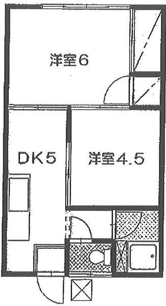 小川ハイツ D-202号室の間取り