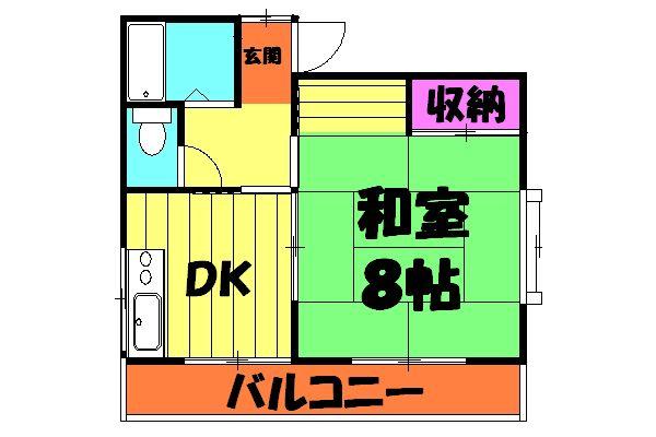 品田ハイツ 201号室の間取り