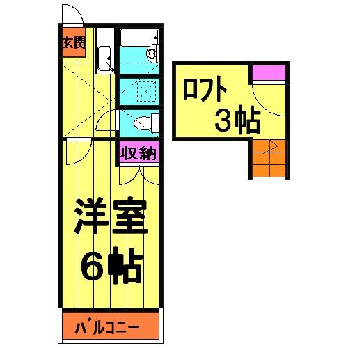 グランパルクⅣ 4208号室の間取り