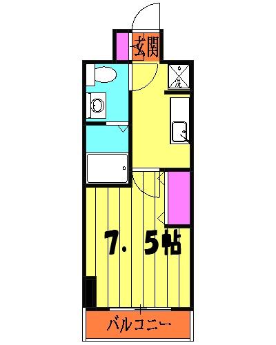 アトラスカーロ浦和常盤弐番館 501号室の間取り