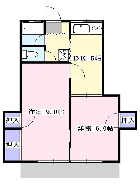 第2ひばり荘 00102号室の間取り