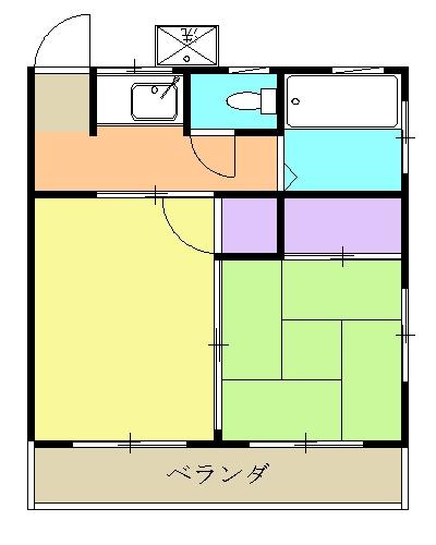 第二名古屋ハウス 207号室の間取り