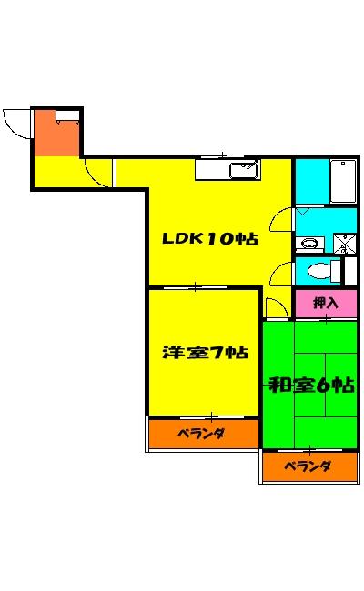 ゴールドマンション浦和 303号室の間取り