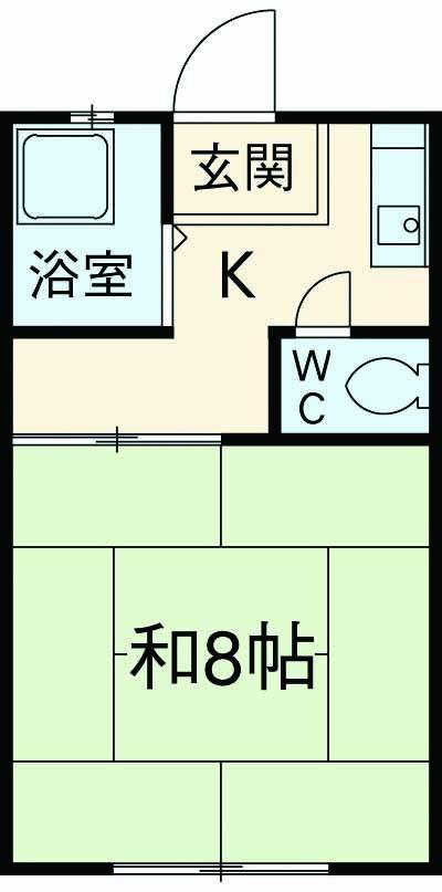 長野ハイツ1、2号棟 1-208号室の間取り