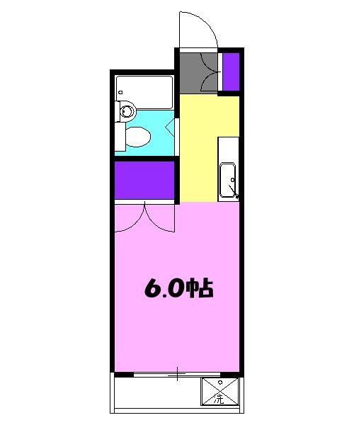 リバティハウス 307号室の間取り