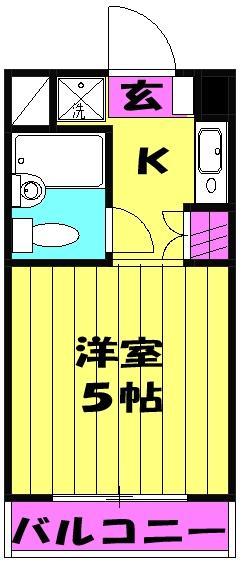 セントヒルズ武蔵浦和 311号室の間取り