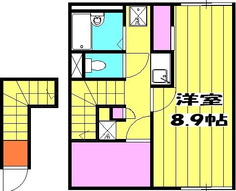 ラトゥール桜丘 202号室の間取り