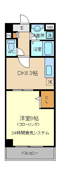 アーバンライフ松田 101号室の間取り