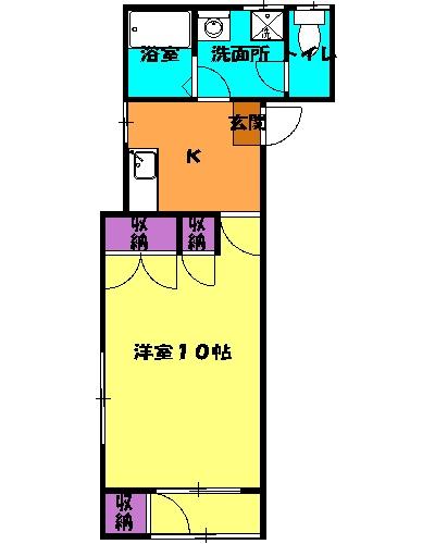 尾山台QSハイム 206号室の間取り