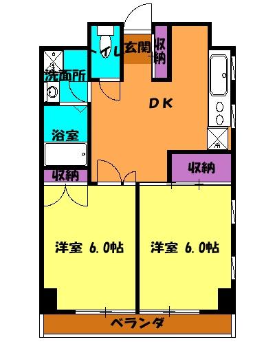 エクセレント駒沢 205号室の間取り