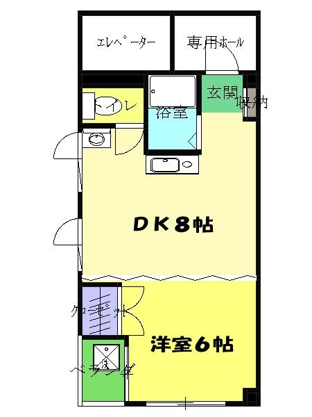 第13菊地ビル 4F号室の間取り