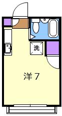 ベルシェ豪徳寺 102号室の間取り