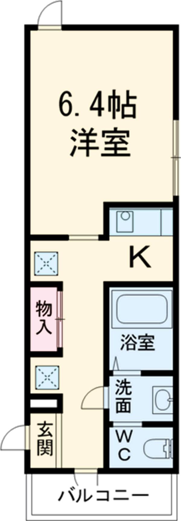 第12フォンタナ駒沢 201号室の間取り