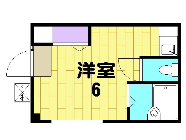 グリーンマンションⅢ 202号室の間取り