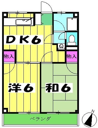 マンション新井 302号室の間取り