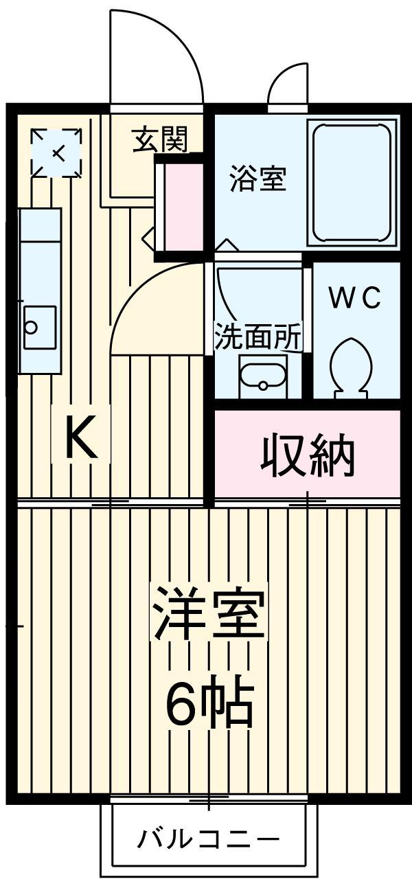 柿沼シティハイツC 207号室の間取り