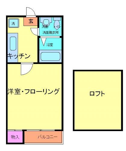 プライマリステージ吉塚 203号室の間取り