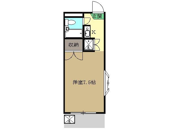 三松ハウス 205号室の間取り