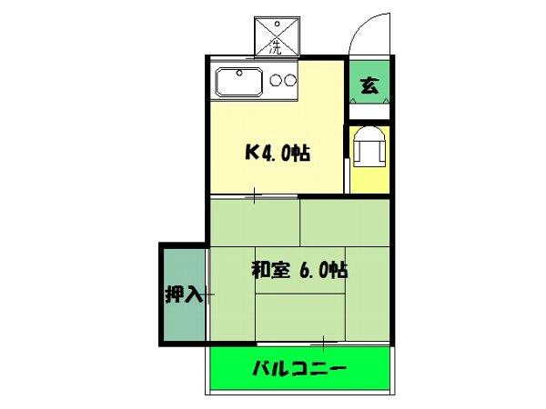 三孝荘 201号室の間取り