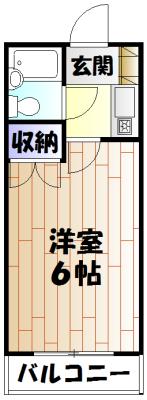 キャトルセゾン橋本Ⅱ 305号室の間取り