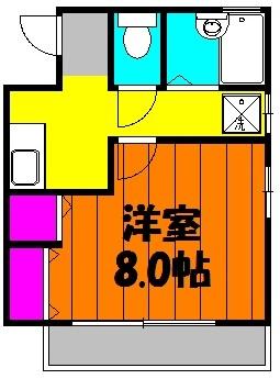 ハイムタカノ 105号室の間取り