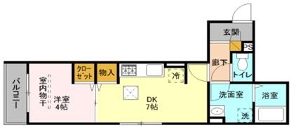 SERIKA 303号室の間取り