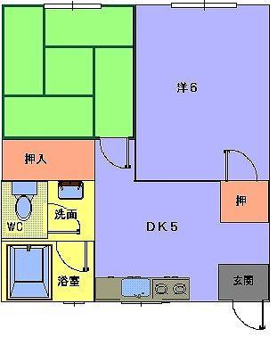 青雲荘 201号室の間取り