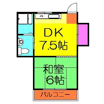 イトーマンション 102号室の間取り