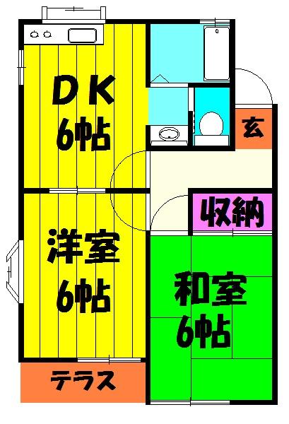 柿沼コーポA 102号室の間取り