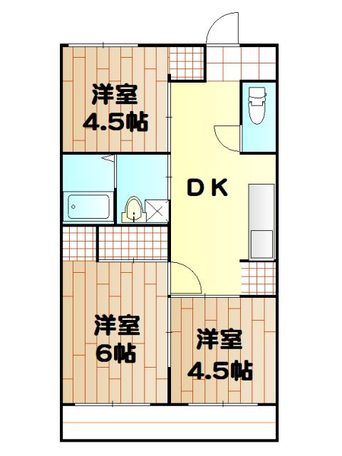 武井マンション 3A号室の間取り