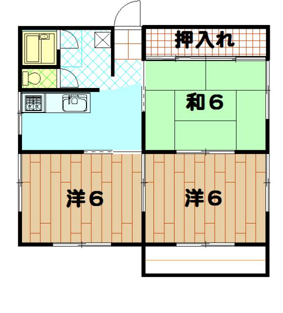 菅原ハイツ 2号室の間取り
