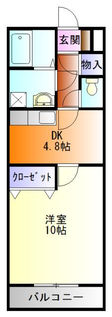 SunRise三番館 102号室の間取り
