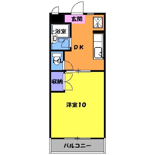 マンションアトランティスⅡ 203号室の間取り